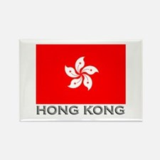 Hong Kong Flag Stuff Rectangle Magnet