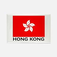 Hong Kong Flag Gear Rectangle Magnet