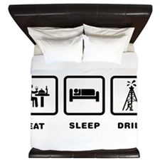 Oil Drilling King Duvet