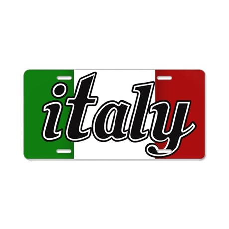 Italy Logo Aluminum License Plate