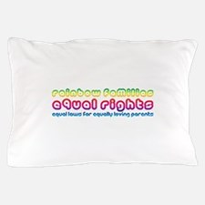 Rainbow families equal rights Pillow Case