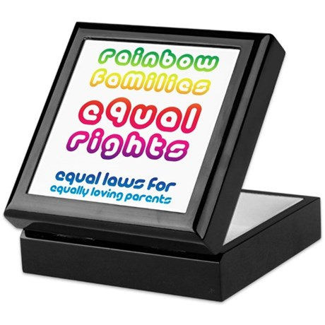 Rainbow families equal rights Keepsake Box