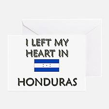 I Left My Heart In Honduras Greeting Cards (Packag