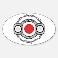 Japan Biking Oval Decal