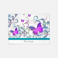 Elegant butterfly Swirls 5'x7'Area Rug