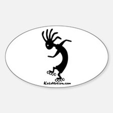 Kokopelli Inline Skater Oval Decal