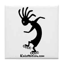 Kokopelli Inline Skater Tile Coaster