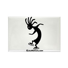 Kokopelli Inline Skater Rectangle Magnet