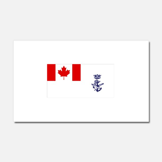 Naval Jack of Canada Car Magnet 20 x 12