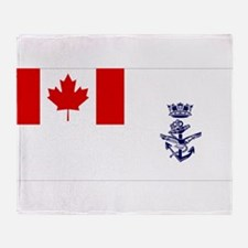 Naval Jack of Canada Throw Blanket