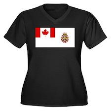Canadian Forces Flag Women's Plus Size V-Neck Dark