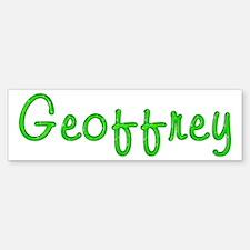 Geoffrey Glitter Gel Bumper Bumper Bumper Sticker