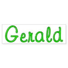 Gerald Glitter Gel Bumper Bumper Sticker