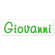 Giovanni Glitter Gel Bumper Bumper Sticker