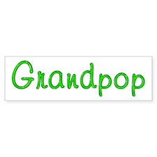 Grandpop Glitter Gel Bumper Bumper Sticker