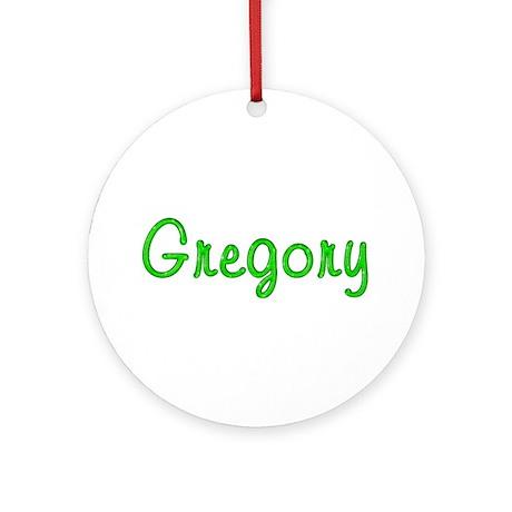 Gregory Glitter Gel Round Ornament