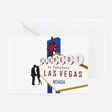 Eloped In Las Vegas Greeting Cards (Pk of 20)