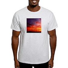 Mellow Dramatic Sunset Ash Grey T-Shirt