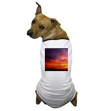 Mellow Dramatic Sunset Dog T-Shirt