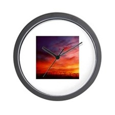 Mellow Dramatic Sunset Wall Clock