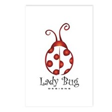 LBDesigns Classic Ladybug Postcards (Package of 8)