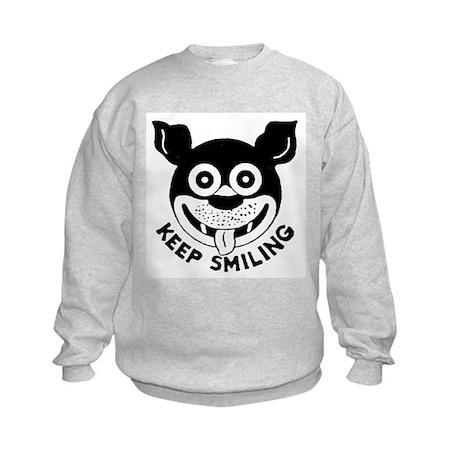 Keep Smiling! Kids Sweatshirt