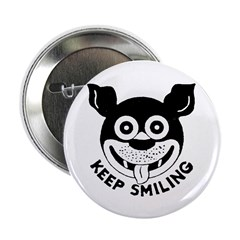 Keep Smiling! Button
