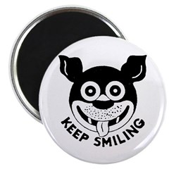 "Keep Smiling! 2.25"" Magnet (10 pack)"