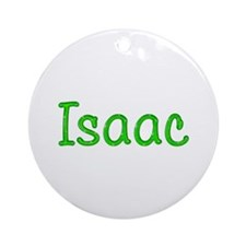 Isaac Glitter Gel Round Ornament