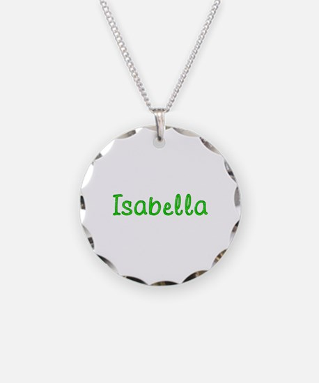 Isabella Glitter Gel Necklace Circle Charm