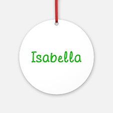 Isabella Glitter Gel Round Ornament