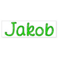 Jakob Glitter Gel Bumper Bumper Sticker