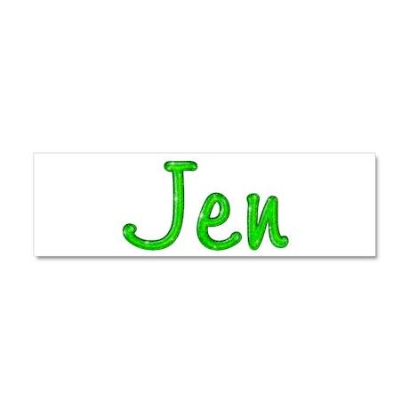 Jen Glitter Gel 10x3 Car Magnet