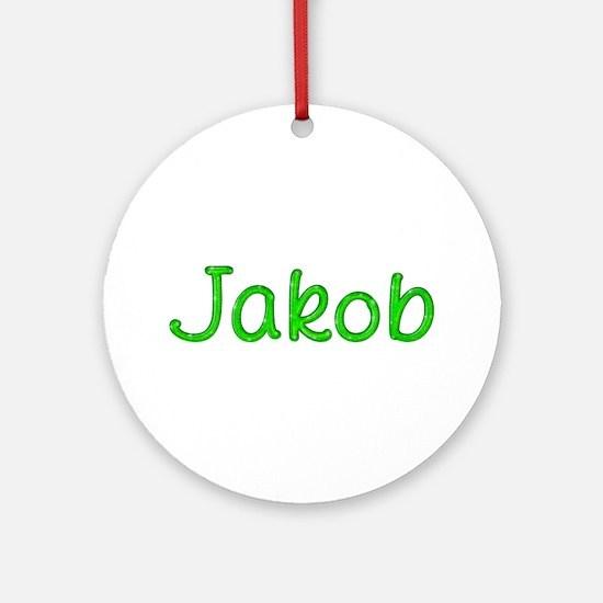 Jakob Glitter Gel Round Ornament