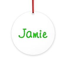 Jamie Glitter Gel Round Ornament