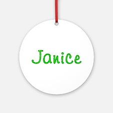 Janice Glitter Gel Round Ornament