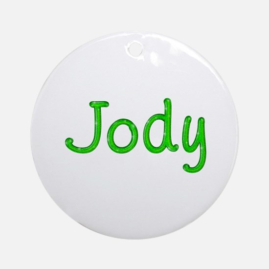Jody Glitter Gel Round Ornament