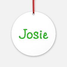 Josie Glitter Gel Round Ornament