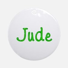 Jude Glitter Gel Round Ornament