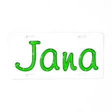 Jana Glitter Gel Aluminum License Plate