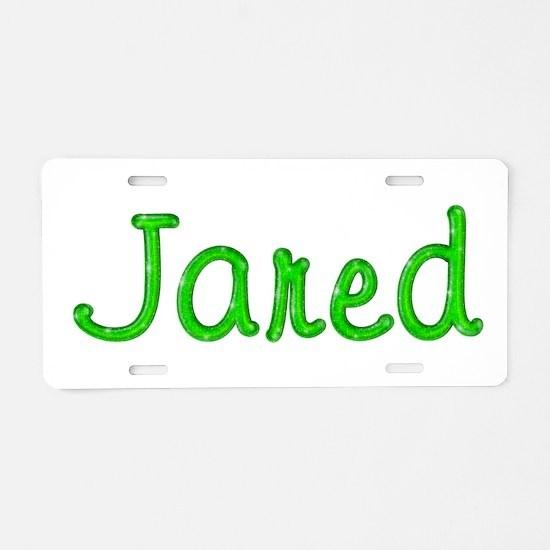 Jared Glitter Gel Aluminum License Plate
