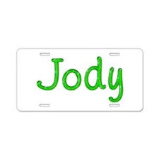 Jody Glitter Gel Aluminum License Plate