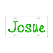 Josue Glitter Gel Aluminum License Plate
