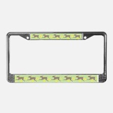 Rabbit and Daffodils License Plate Frame