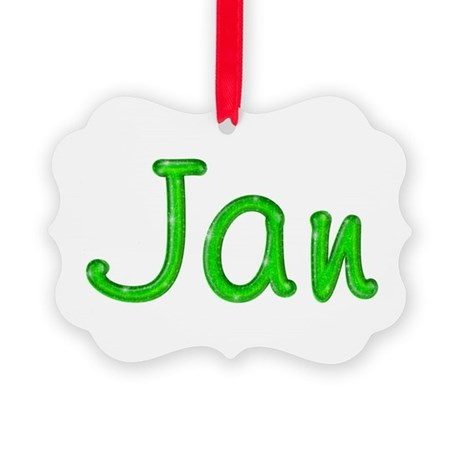 Jan Glitter Gel Picture Ornament