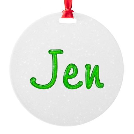 Jen Glitter Gel Round Ornament