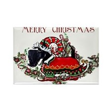 Scottish Terrier Christmas Elf Rectangle Magnet