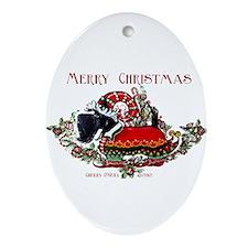 Scottish Terrier Christmas Elf Ornament (Oval)