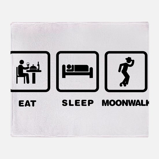 Moonwalking Throw Blanket