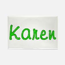 Karen Glitter Gel Rectangle Magnet